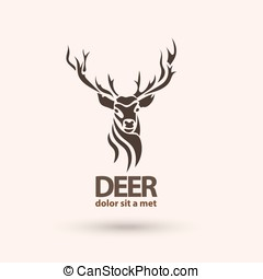 Creative art icon stylized deer. Modern idea for your...