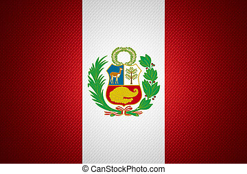 flag of Peru - Peru flag or Peruvian banner on abstract...