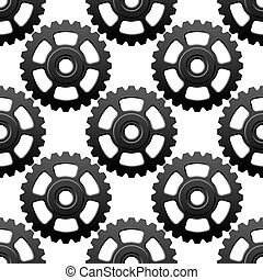 Gear wheels or cogwheels seamless pattern