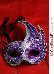 Intricate Mask - An intricate halloween mask shot against a...