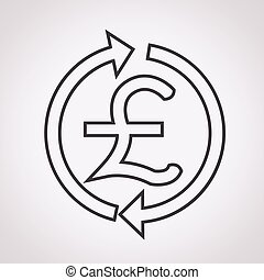 Money Pound Icon , GBP currency symbol