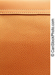 Brown leather and stitch