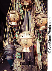 Traditional souvenir in local Nepal market
