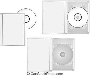 Multimedia DVD packaging - DVD and its boxes into different...