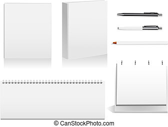 Office stationary - Pack of detailed objects used in the...