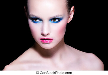 Beauty portrait of model with make-up
