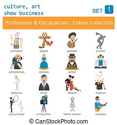 Professions outline. Culture, art