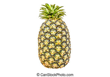 Pineapple isolated white background with clippingpath - a...