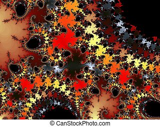 Decorative fractal background - Digital computer graphic -...