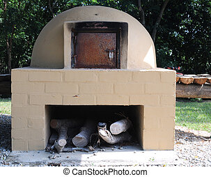Brick oven in the backyard.