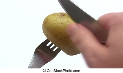 Peeling a Potato - Time Lapse