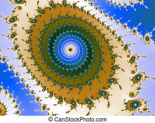 Decorative fractal spiral - Digital computer graphic -...