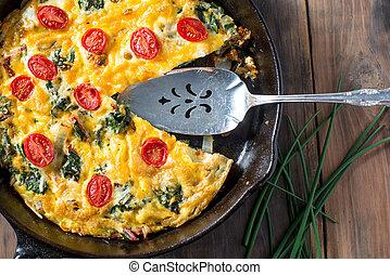 Swiss Chard and Tomato Frittata breakfast - Frittata made...
