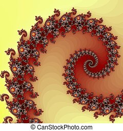 Abstraction fractal wave - Digital computer graphic -...