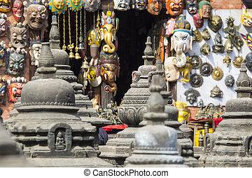 Souvenirs in street shop at Durbar Square in Kathmandu,...