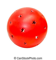 Red ball - Close up shot of red ball with stars