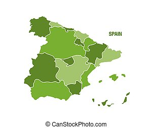 Spain map with region