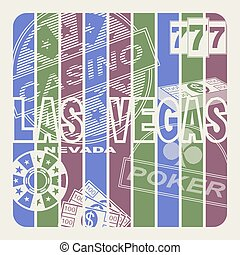 Las Vegas, city of entertainments and gamblings. Abstract...