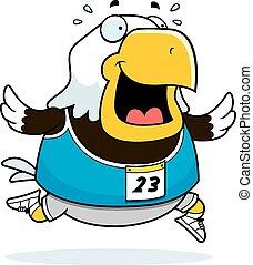 Cartoon Eagle Running Race - A happy cartoon eagle running...