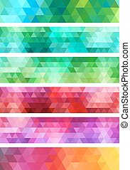 geometric banner backgrounds set
