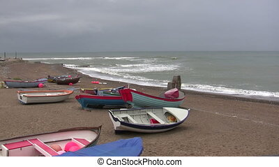 Lots of boats on the beach