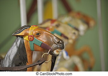 merry-go-round - closeup of a horses on a merry-go-round