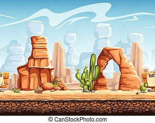 Tileable horizontal background wild west. Set1 - Tileable...