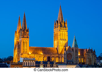 Truro Cornwall England - Rooftop view of Truro Cornwall...