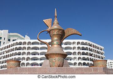 Coffeepot monument in Fujairah, United Arab Emirates