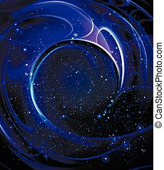 spiral Galaxy - Galaxy spiral shape, vector art illustration...