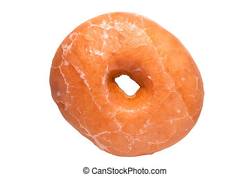Glazed Donut with Clipping Path - Glazed doughnut isolated...