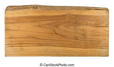 old plank wood isolated on white background