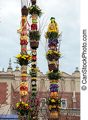 Cracow - easter sunday palm on the Main Square