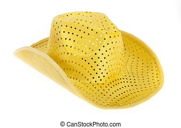 sombrero, amarillo, vaquero