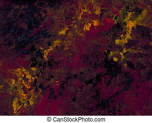 Rising Red Flames - Impressionist view of red flames