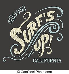 Surfs Up hand-lettering tee - Surfs Up hand-lettering,...