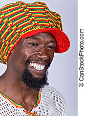 Rasta man - rasta man with traditional hat people diversity...