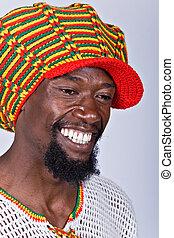 Rasta man - rasta man with traditional hat people diversity...