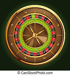 roulette wheel - detailed casino roulette wheel