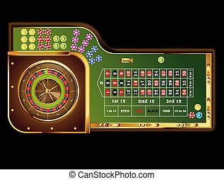 roulette table - european roulette table