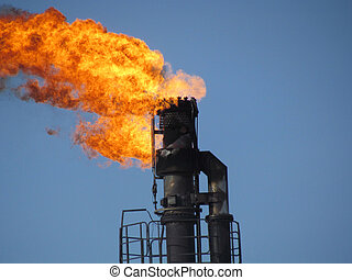 Torch system on an oil field - System of a torch on an oil...