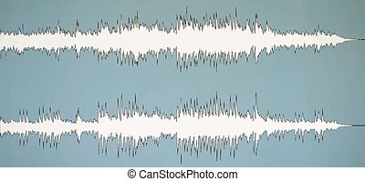 Colorful waveform, vintage abstract background and symbol...