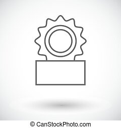 Canned Single flat icon on white background Vector...