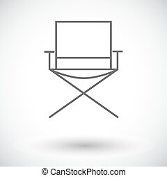 Camping chair Single flat icon on white background Vector...