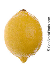 Lemon Macro Isolated - Isolated macro image of a lemon