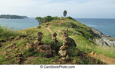 landscape Promthep Cape, Nai Harn Beach, Phuket Island,...