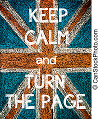 Keep Calm and Turn the Page. United Kingdom (British Union...