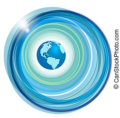 Globe on abstract background - Vector illustration Globe on...