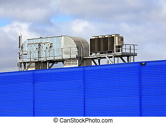 Ventilation equipment - Ventilation pipes and actuators on...