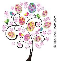 Wielkanoc, drzewo,